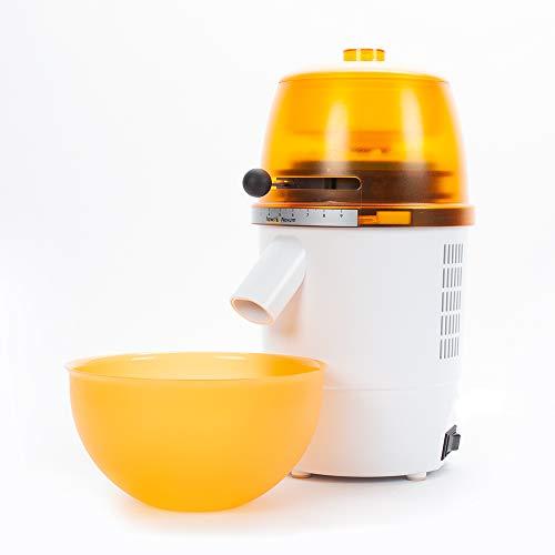 hawos Novum (Farbe: Orange) - Elektrische Getreidemühle mit 360W Leistung in Formschönem Makrolon Kunsstoffgehäuse der Firma hawos Kornmühlen GmbH