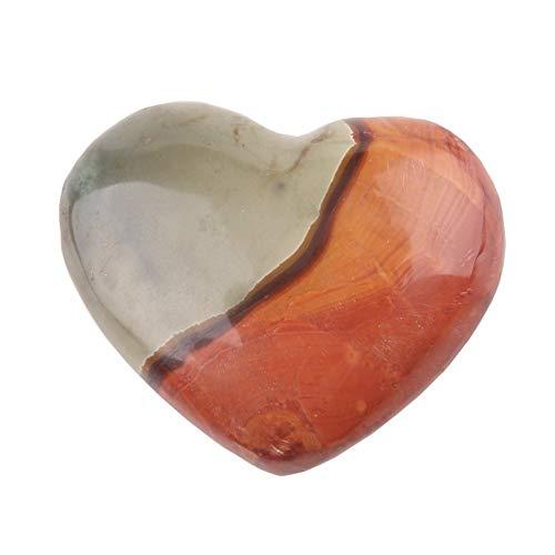 KDHJY Natural Forma 1PCS Corazón de Moda 4Colors Natural de la joyería de la Piedra Preciosa de Cristales de mar de Madagascar Jasper Regalo Pendiente DIY Hecho a Mano Tumbled Craft Stone Cuarzo Rosa