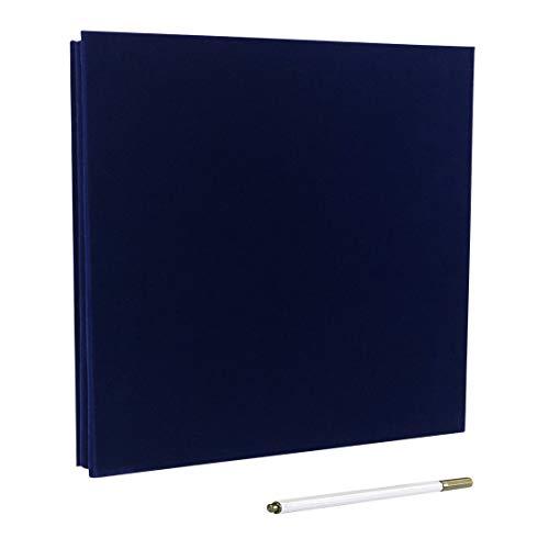Álbum de fotos autoadhesivo, álbum de recortes magnético, 40 páginas, tapa dura, 28 x 26 cm, con caja de almacenamiento para álbum de fotos, kit de accesorios de bricolaje azul