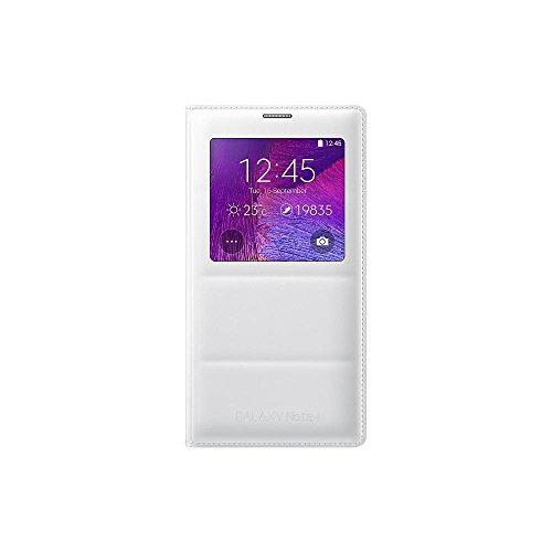 Samsung S-View Schutzhülle Case Cover mit Sichtfenster in Stepp-Optik für Samsung Galaxy Note 4, weiß
