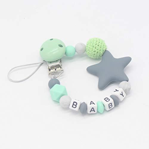 MAICOLA DIY Silikon-Baby-Schnuller Clip bunten Schnullerketten für Baby-Zahnen Beruhigungssauger Chew Toy Fun