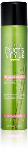 Garnier Fructis Style Anti-Humidity Hairspray UV Color Shield Ultra Strong Hold, 8.25 Ounce