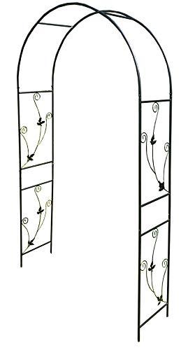 Selections Metal Weatherbury Leaf Scroll Arch Garden Arch