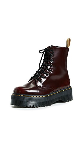 Dr. Martens Vegan Jadon II 8 Eye Cambridge Brush Cherry Red 38