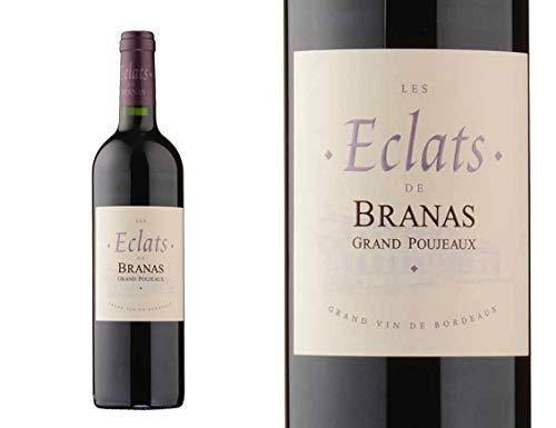 6 Flasche von LES ECLATS DE BRANAS GRAND POUJEAUX 2014 - Moulis-en-Médoc - France -Rouge - 0.750 l