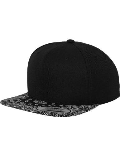 Flexfit Erwachsene Mütze Bandana Snapback, Blk, One size, 6089BD