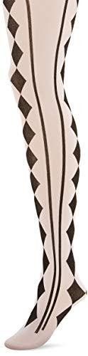 amscan Black & White Harlequin Tights - Adult Standard, Multicolor