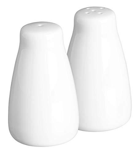 Salero y pimentero Simplicity, de Porcelana Blanca, de Price
