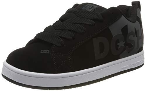 DC Shoes Court Graffik Se Mens Shoe, Zapatillas de Gimnasia Hombre, Negro (Schwarz/Grau), 40 EU M