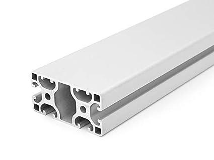 Zuschnitt 50mm-2000mm 25,00 EUR//m + 0,50 EUR pro Schnitt, min. 2,50 EUR 50mm Aluminiumprofil 40x80L I-Typ Nut 8