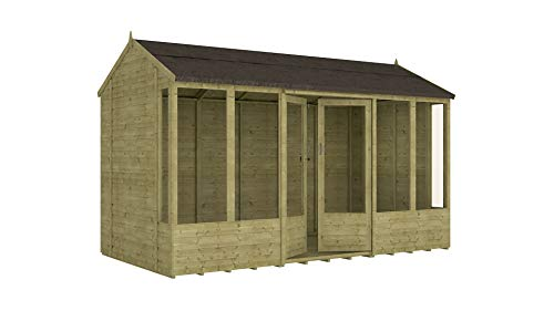 Project Timber 12ft x 6ft Pressure Treated Hobbyist Summerhouse (12 x 6)
