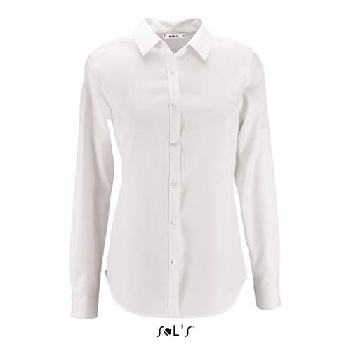 SOLS Damen Bluse Womens Herringbone Shirt Brody 02103 White S