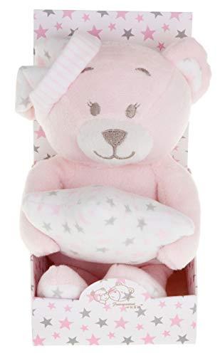 Spiel AG Baby Teddybär Schlafmütze mit Kissen in Sternform (Rosa)