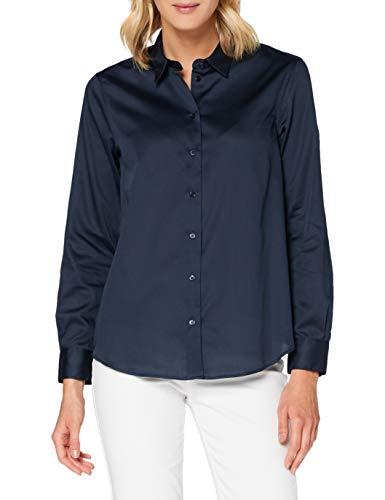 Seidensticker Damen Bluse – Fashion Bluse - Bügelleichte Hemdbluse mit Hemdblusenkragen - Regular Fit – Langarm – 100% Baumwolle