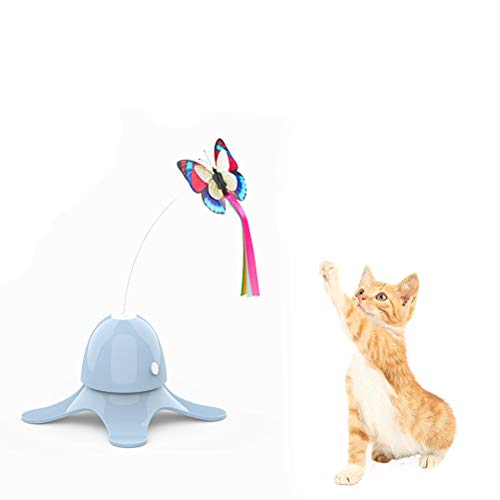 KINTRADE Colorful Long Tassel Colored Cat Catcher Teaser Wand Pet Interactive Toy Funny