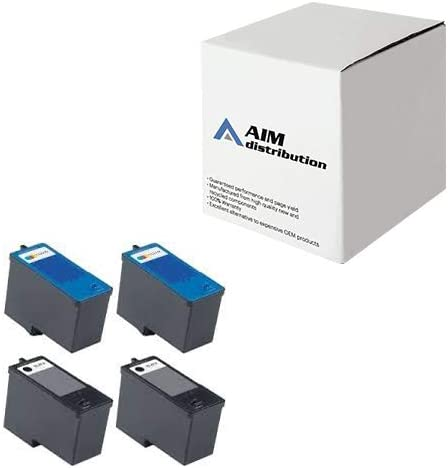 AIM Compatible Replacement for Dell 966/968/A966/A968 Inkjet Combo Pack (2-BLK/2-CLR) (Series 7) (2BC968W) - Generic