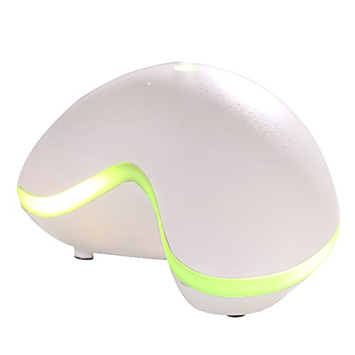 Gosear 150ml Humidificador Aromaterapia Ultrasónico con LED Lámpara para SPA Yoga Casa y Oficina Color de Blanco