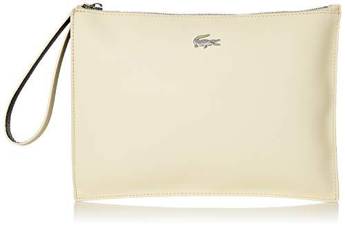 Lacoste Women's Anna Clutch Bag, White/Grey Wash-Cord