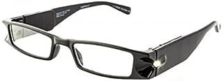 Foster Grant Men Women Liberty LightSpecs LED Lighted Black Reading Glasses +2.00