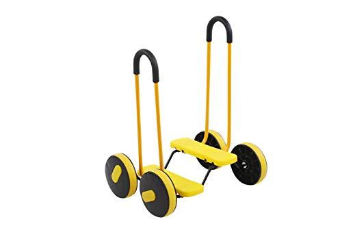 None/Brand Kinderhaus 4 Rad Pedal Balance Fahrrad mit Griff Kindergarten Sensorische Trainingsgeräte Baby Outdoor Sport Frühkindliche Spielzeug Balance Pedal Auto