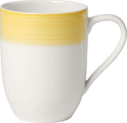 Villeroy & Boch Colourful Life Lemon Pie Kaffeebecher, Premium Porzellan, Weiß, 0.37 l
