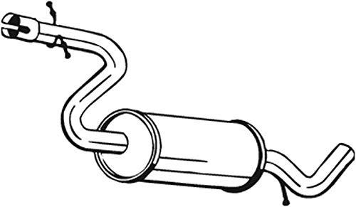 Mittelschalldämpfer (1220-17128) Dämpfer Abgasanlage Auspufftopf