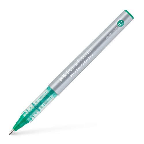 Faber-Castell 348163 - Free Ink Roller 0,7 . Verde. Pack de 12.