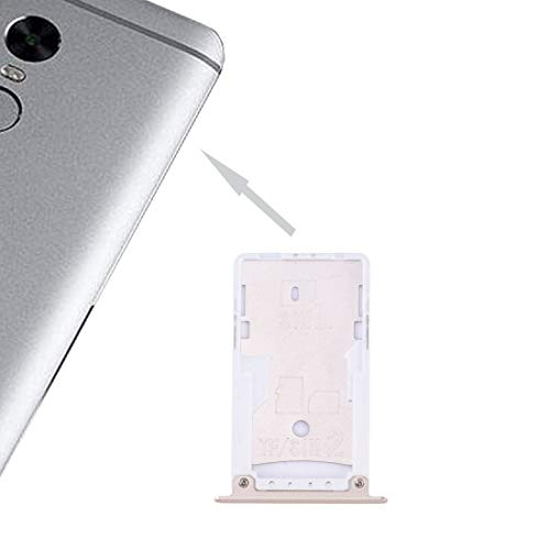 Beilaishi For Xiaomi redmi Nota 4X SIM y SIM/Bandeja de Tarjeta de TF (Negro) Lector de Tarjeta SIM de teléfono (Color : Gold)
