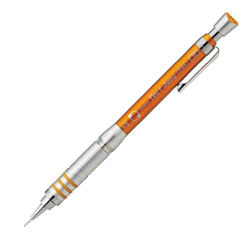 Zebra Mechanical Pencil, Tect 2way, 0.5mm, Orange (MA41-OR)