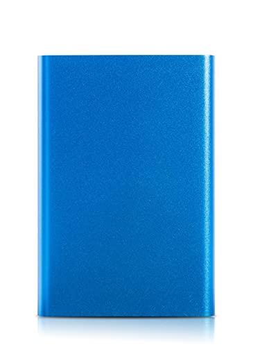 Tbagem-Yjr Disco Duro Externo, Memoria Externa Disco Duro Externo, Disco Duro Portátil Más Un Disco Duro Externo Delgado HDD Portátil USB 3.0 para PC Portátil Y Mac 750GB (Color : Blue)