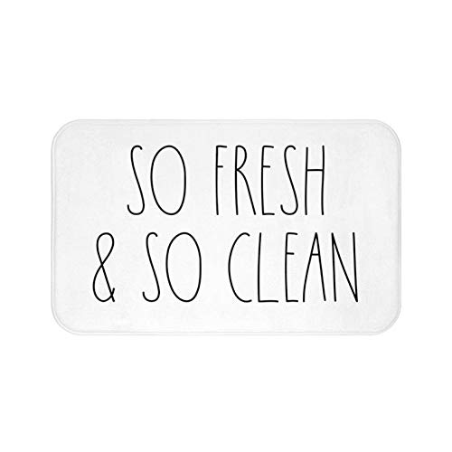 Zacathan432 Area Rug 20 x 32 Inch Door Mat, So Fresh & So Clean Bath Mat, Bathroom Decor, Funny Bathroom Decor, Funny Bath Mat, Rae Dunn Inspired, Simple Bathroom Decor
