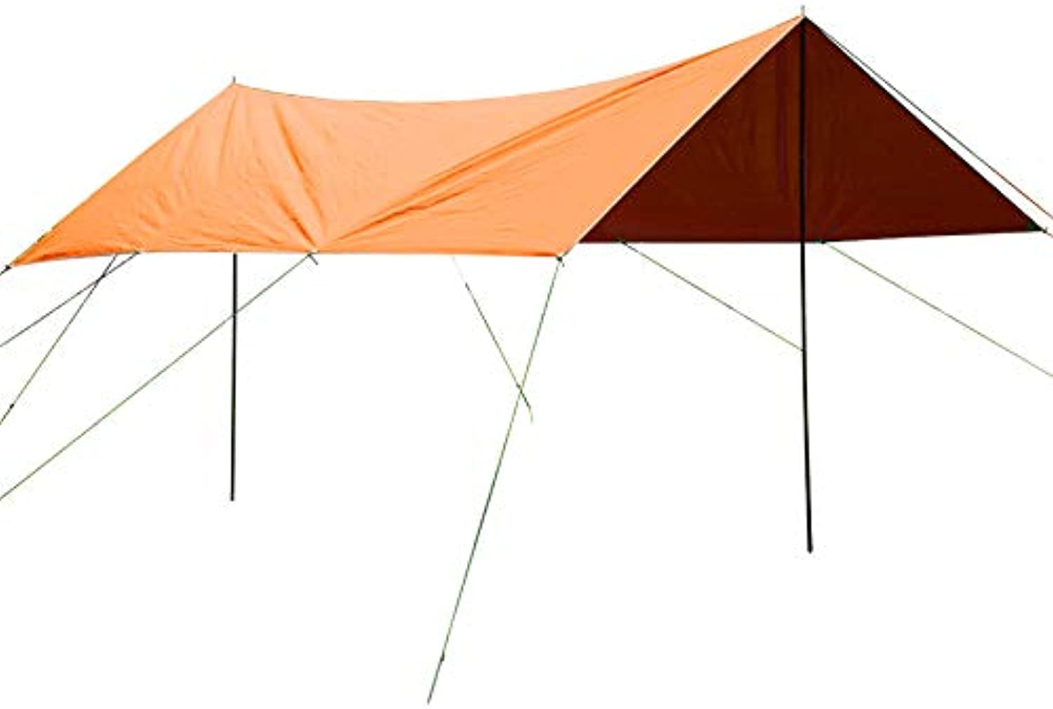 Outdoor Tent Awning with Poles Picnic Beach Party Shades Fast Built Quick Removable Rain Camping Sun Shelter 4x3x2m