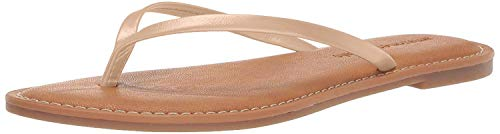 Amazon Essentials Women's Thong Sandal, Beige, 9 B US