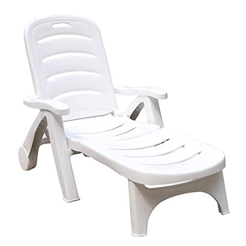 YERT Silla de plástico portátil para Relajarse Junto a la Piscina, sillón...