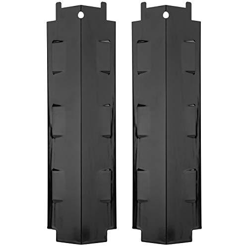 Rehomy 2 piezas de placa de calor de parrilla de gas de acero inoxidable para tienda de campaña de calor para Charbroil 463230710 463320109(negro)