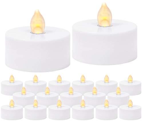 Flammenlose Led Teelichter Kerzen flackernd, elektrisch - 100er Set - warmer Farbton, 120 Stunden Leuchtdauer