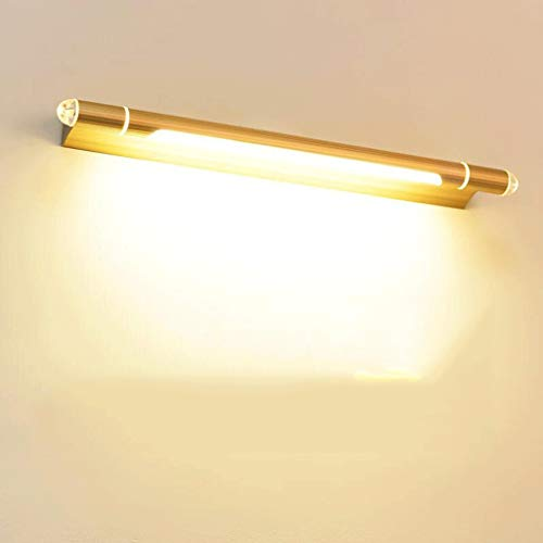 Spiegelleuchte Led-Spiegel Einfaches Modernes Licht Bad Badezimmerspiegel Kronleuchter Wc-Kommode Wandleuchte Schminklampe Verstellbarer Körper, BOSS LV, Gold-65cm