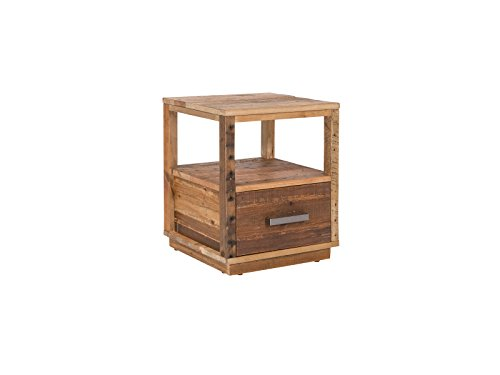 Woodkings® Nachttisch Woodville Natur recycelte Pinie Schlafzimmer Massivholz Beistelltisch Nachtkommode Design Massive Naturmöbel Echtholzmöbel günstig