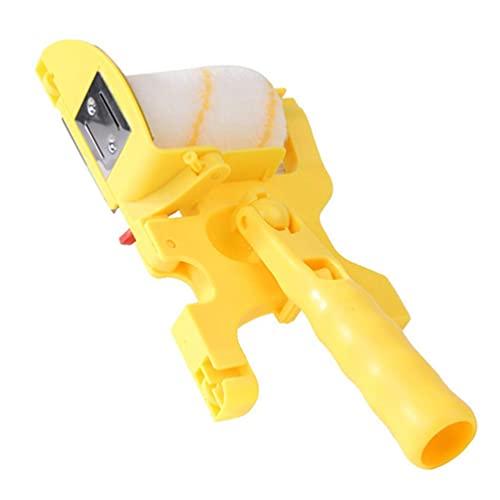 LIXBD - Rullo per pittura a parete, in plastica, per interni, per pittura, pareti, soffitti, trattamento di riparazione, colore: giallo