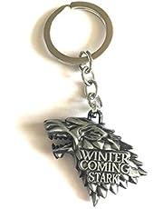 Game of Thrones House Stark Wolf Head Keychain M028