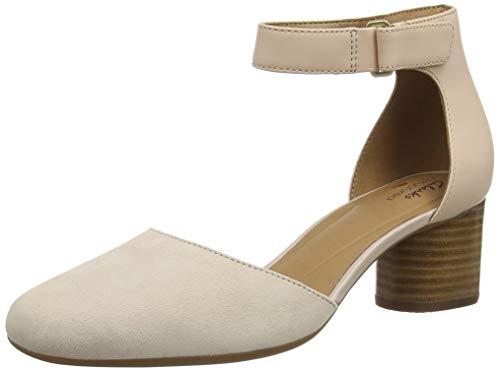 Clarks Un Cosmo Strap, Sandali con Cinturino alla Caviglia Donna, Blu (Blush Combi Blush Combi), 36 EU