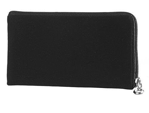 Reissverschluss Handytasche Softcase geeignet für Medion Life E4503 (MD 99476) Handy Schutz Hülle Slim Hülle Cover Etui schwarz