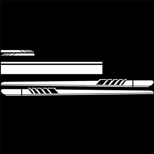 XJX Calcomanía gráfica de vinilo para capó de techo de coche, 5/6 unidades, para puerta de carreras, hoja larga, para espejo retrovisor (nombre de color: 5 unidades), color blanco