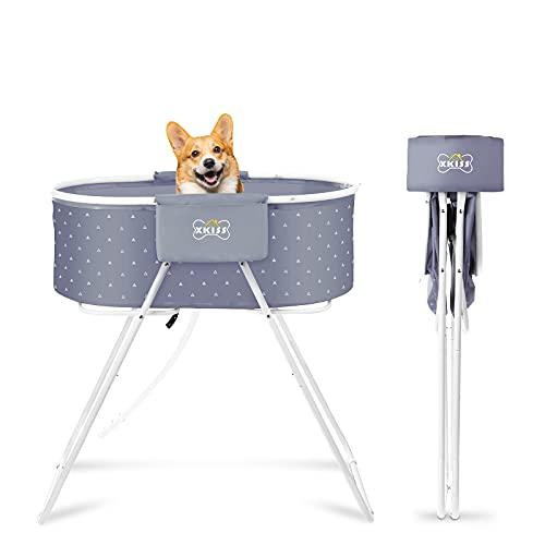 XKISS Bañera para perros plegable y fácil de transportar con elevación para mascotas