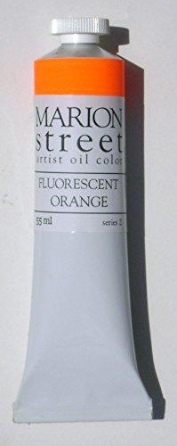 Fluorescent Orange Artist Oil Paint 55ml.