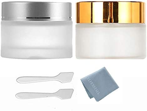 ELFENSTALL 2Pcs Gold Silver Empty 50g Cream Bottle Frosted Glass Eye Cream Face Cream Foundation product image