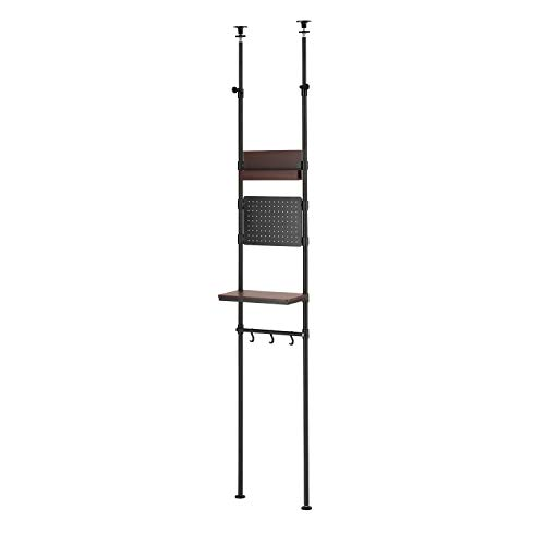 ルミナス スチールラック 黒系 つっぱり棚 スリム 幅40cm ノワールシリーズ 吊り下げ収納 玄関棚 NO40-T