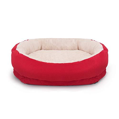 Rosewood 04360 orthopädisches Hundebett, rot, Länge: 66cm