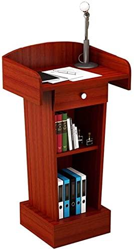 Decoración de muebles Mesa de conferencias Plataforma de conversación Simple y moderna Sala de conferencias de bienvenida Mesa de podio Podio de entrenamiento escolar (Color: Negro, Tamaño: Talla
