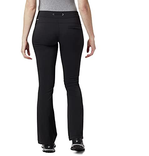 Columbia Women's Standard Anytime Outdoor Boot Cut Casual Pant, Black, 8 Regular